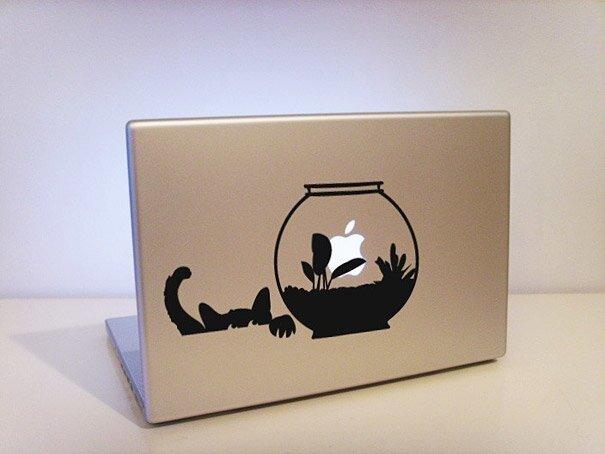 Наклейки на macbook 153