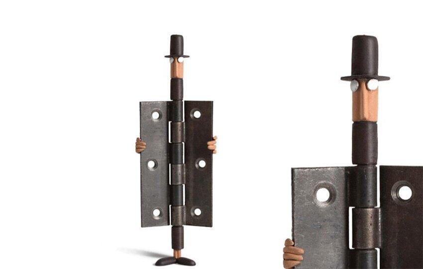Художник создаёт из повседневных предметов, игривых персонажей. Everyday-object-sculptures-gilbert-legrand-2