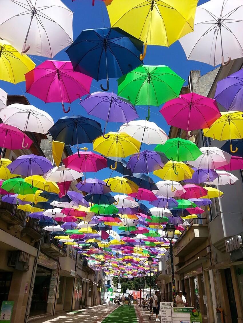 Сотни разноцветных зонтов над улицами Португалии  D233a796a82f16264a9d6c22f3258460