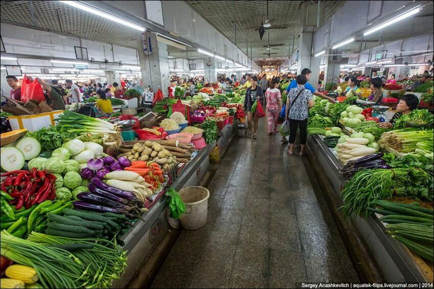 Зеленое изобилие китайского рынка 003
