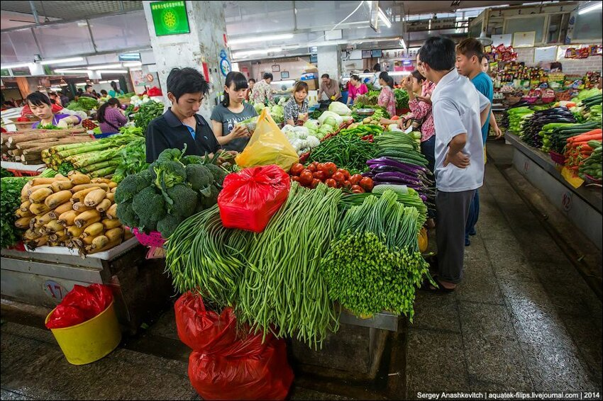 Зеленое изобилие китайского рынка 004
