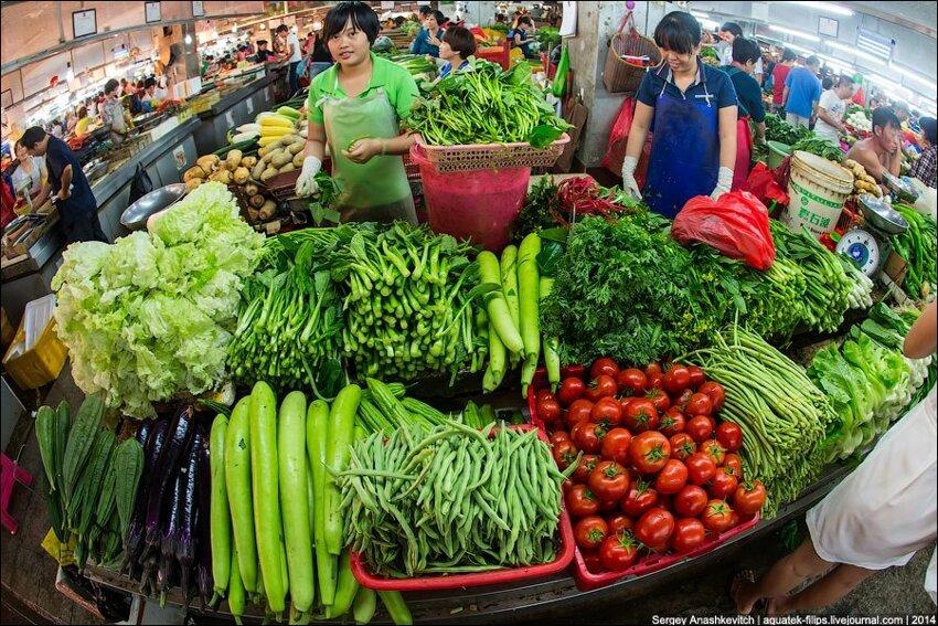 Зеленое изобилие китайского рынка 005