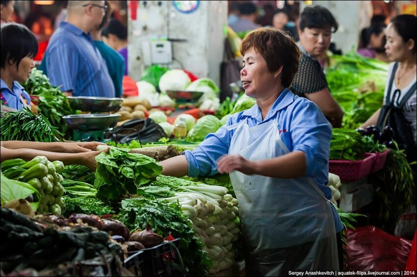 Зеленое изобилие китайского рынка 007