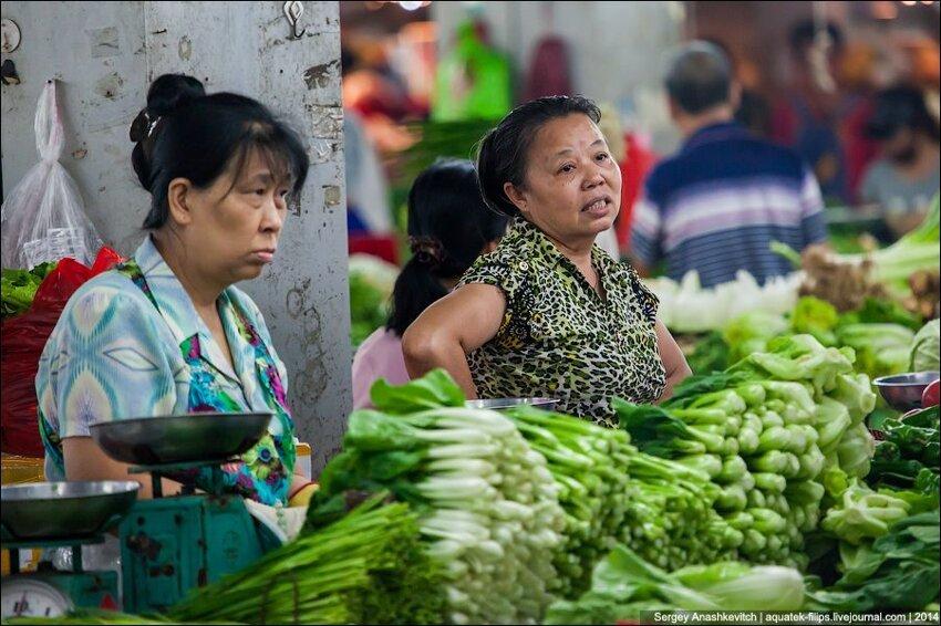 Зеленое изобилие китайского рынка 008