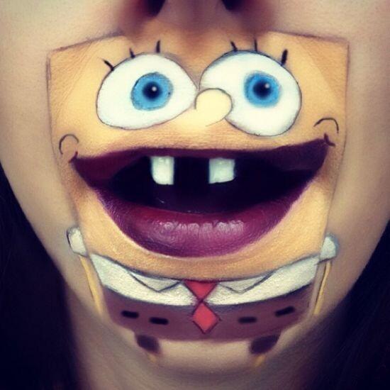 Забавный макияж 16