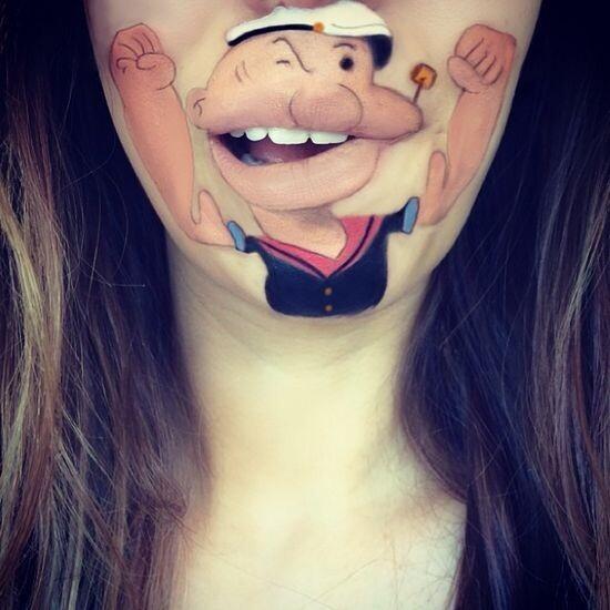 Забавный макияж 5
