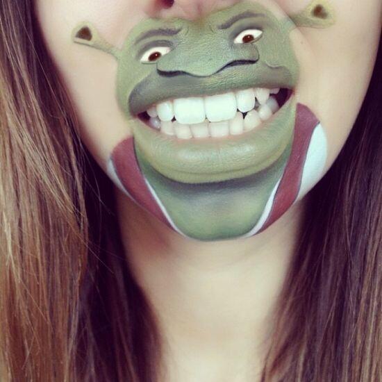 Забавный макияж 8