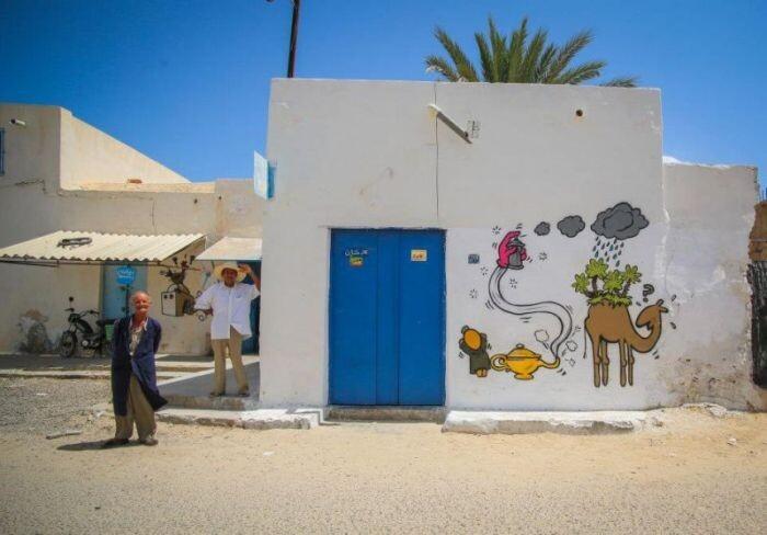 Расцвет уличного искусства в Тунисе 1077b7c7f32016ccdc91d6e11fdaa918