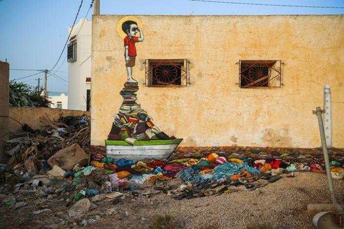 Расцвет уличного искусства в Тунисе 1645d8145d6b95c6a6a839a822c24be2