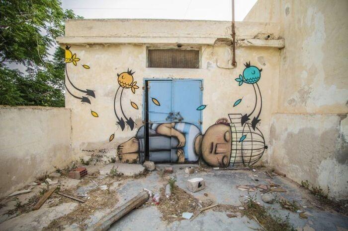Расцвет уличного искусства в Тунисе 9405e434464c71e7bb9bbfd0a83e1796