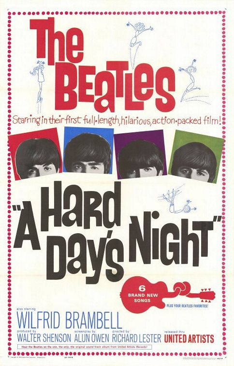 #4 Movie: A Hard Day's Night Beatles_hard_days_night_movie_poster