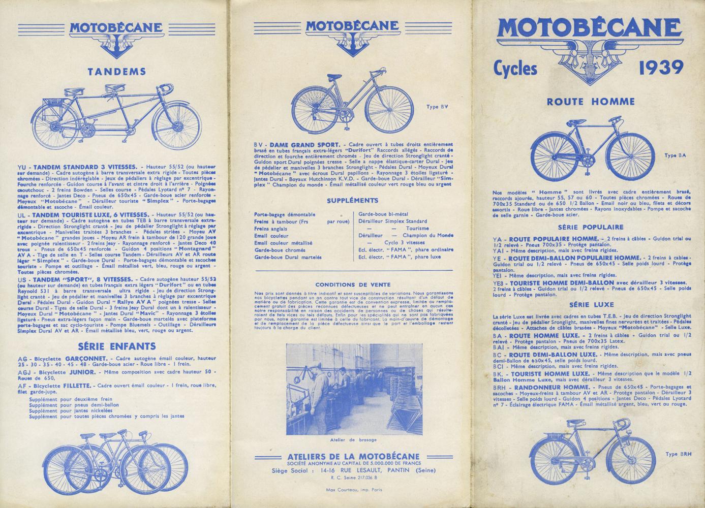 Motobécane col de cygne 1930-39 - Page 2 Cat-cycles-1939-001