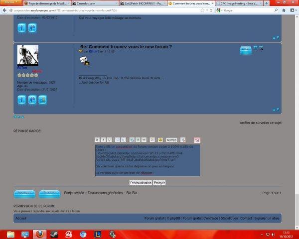Comment trouvez vous le new  forum ? 9672c4f1-7c2c-40a6-80af-9db727f7ed68