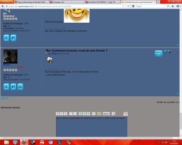 Comment trouvez vous le new  forum ? E76f5131-2a1d-4fff-88ef-2bdfdc0f0abd