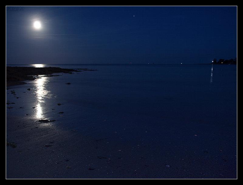 Pleine lune, marée descendante à L'Ile-Tudy Image11