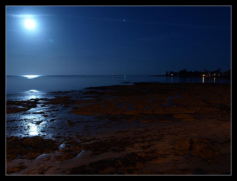 Pleine lune, marée descendante à L'Ile-Tudy Image13
