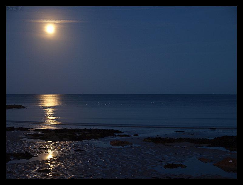 Pleine lune, marée descendante à L'Ile-Tudy Image7