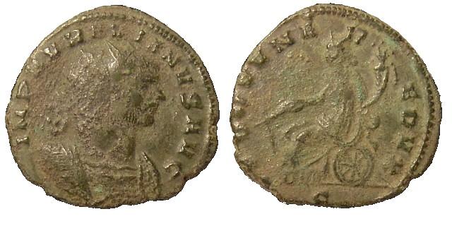 Antoniniano de Aureliano. FORTVNA REDVX. Milán Aurelian%20Mediolanum%20RIC%20128%20S-RI1134