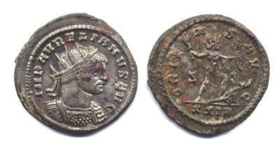 Aureliano o Antoniniano post-reforma de Aureliano. ORIENS AVG. Sol,ceca Roma. Aurelian%20Rome%20RIC%2064%20backwards%20Z%20left%20over%20XXIR-Jonas