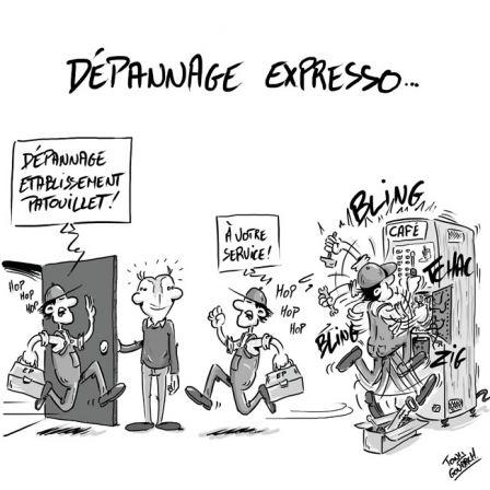 A RIRE OU EN PLEURER OU REVUE DE PRESSE SATIRIQUE .depannage_fb_m