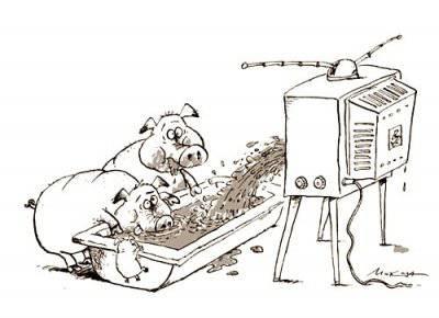 Во что превращается информационная стратегия госСМИ, или «Инфо» равно «бабло»? 1389755580_pomoi-iz-televizora