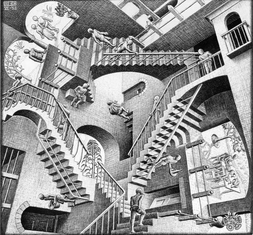 Pittura e scultura - Pagina 5 Escher_Relativity