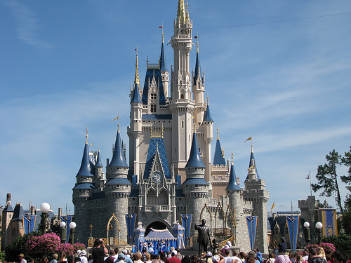 Cleveland Cavaliers vs. Orlando Magic @ Walt Disney World Resort. 3/09 Walt-disney-world-castle