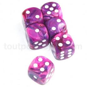 DICE : Collections de dés JDR  : modèles, conseils, adresses - Page 6 De-16-mm-effet-peinture-rose-violet