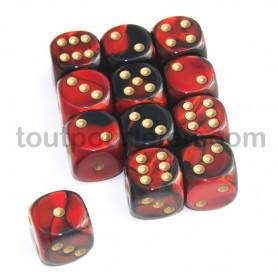 DICE : Collections de dés JDR  : modèles, conseils, adresses - Page 6 De-16-mm-effet-mixe-noir-rouge-points-dores