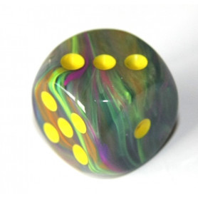 DICE : Collections de dés JDR  : modèles, conseils, adresses - Page 6 De-vortex-multicolore-16-mm-points-jaunes