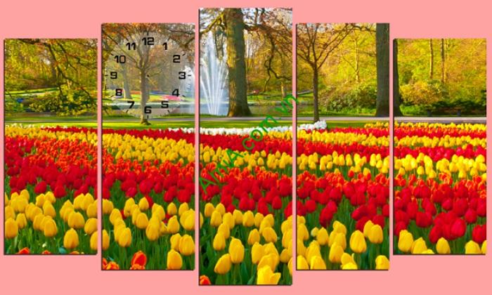 Giới thiệu những bộ Tranh phong thủy treo tường phòng khách hợp bản mệnh Tranh-hoa-tulip