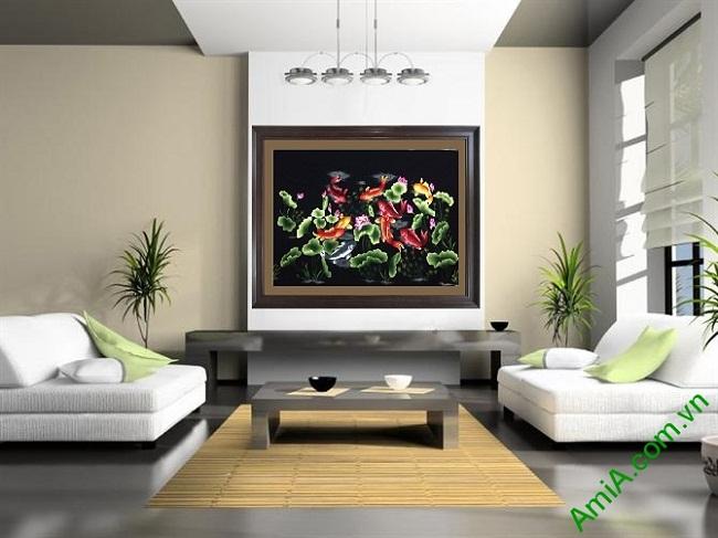 Ấn tượng với Quà Tết tranh đẹp treo tường phòng khách độc đáo Tranh-theu-tay-treo-tuong-cao-cap-cuu-ngu-quan-hoi1