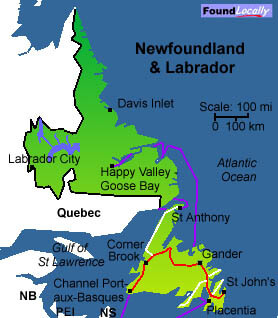 wooohoo!!!! sunshine all around  Newfoundland-Map