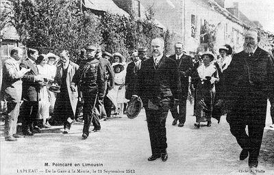 visite du président Poincaré à Lapleau le 11 septembre 1913
