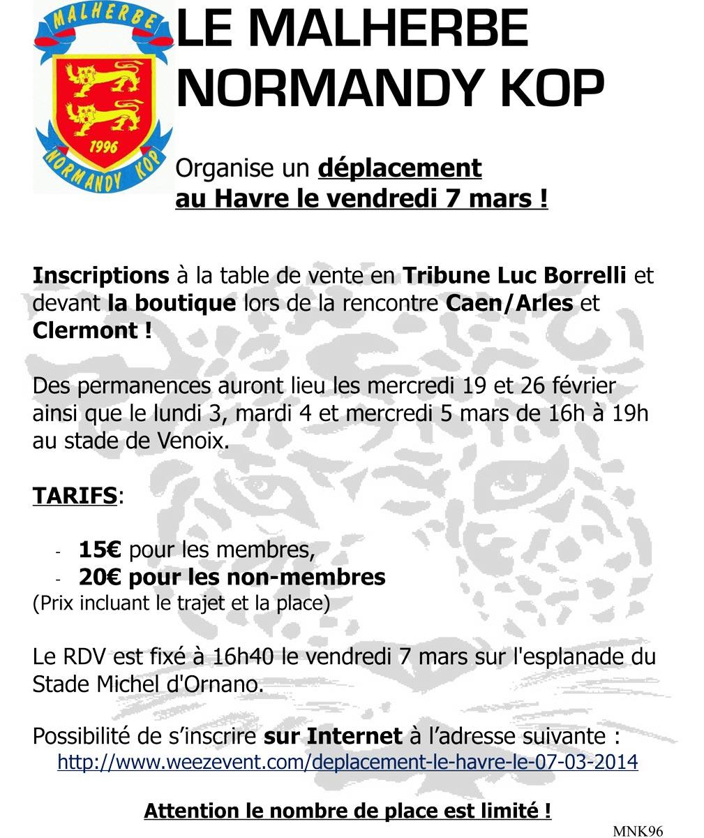 [24e journée de L2] SM Caen 1-0 AC Arles Avignon  Dep-lehavre