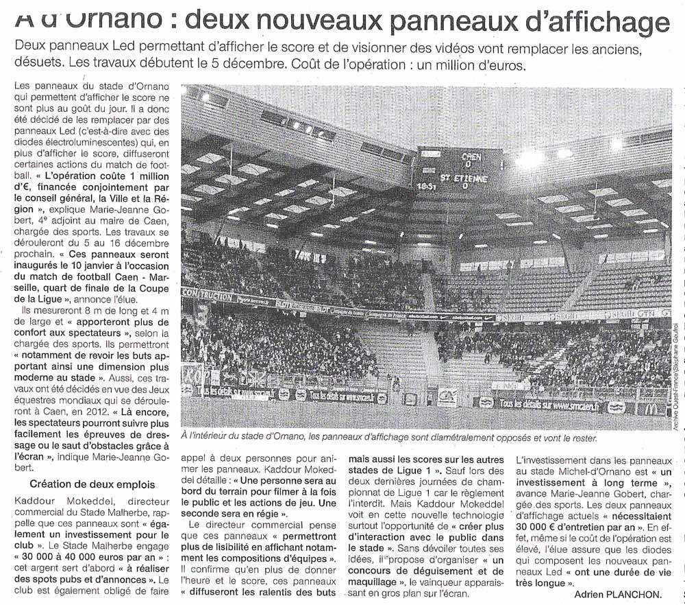 Projet de rénovation du Stade Michel d'Ornano Of12-11-2011