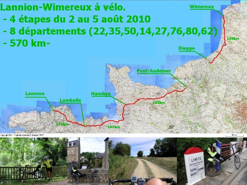 Randonnée Lannion(22)-Wimereux(62) en 4 jours. 00-plan_route
