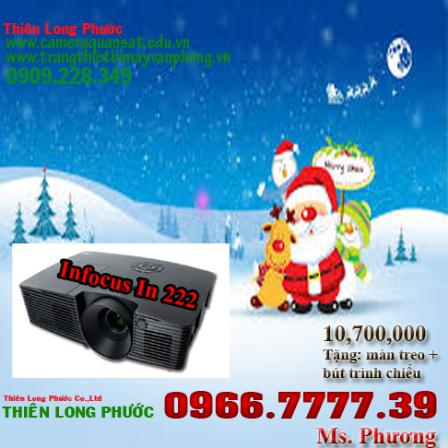 Chương trình khuyến mãi chào đón Noel với Máy Chiếu Infocus In 222 chỉ 10,700,000. Image_945226_9f5ce927-0518-4a5e-a951-948b26a85325