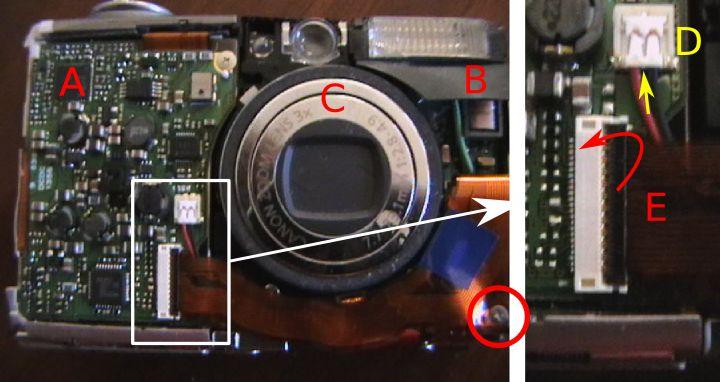 صور  توضح مكونات الكاميرا الرقمية بالتفصيل Parts-connectors