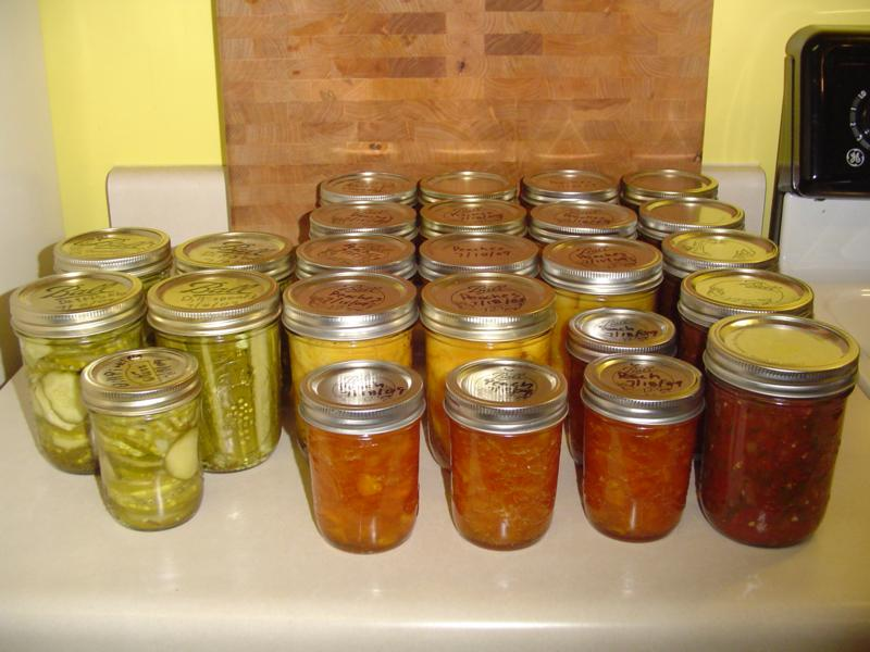 Building the garden and first year results. Canned01small