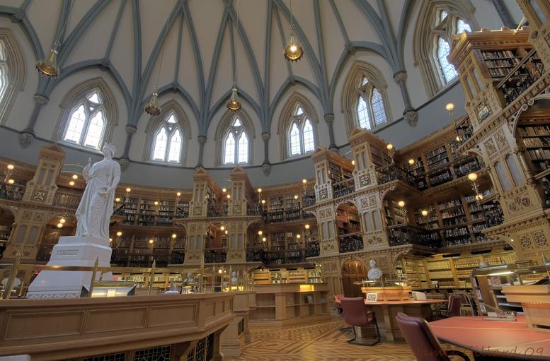 Najlepše biblioteke na svetu Canadian-library-of-parliament