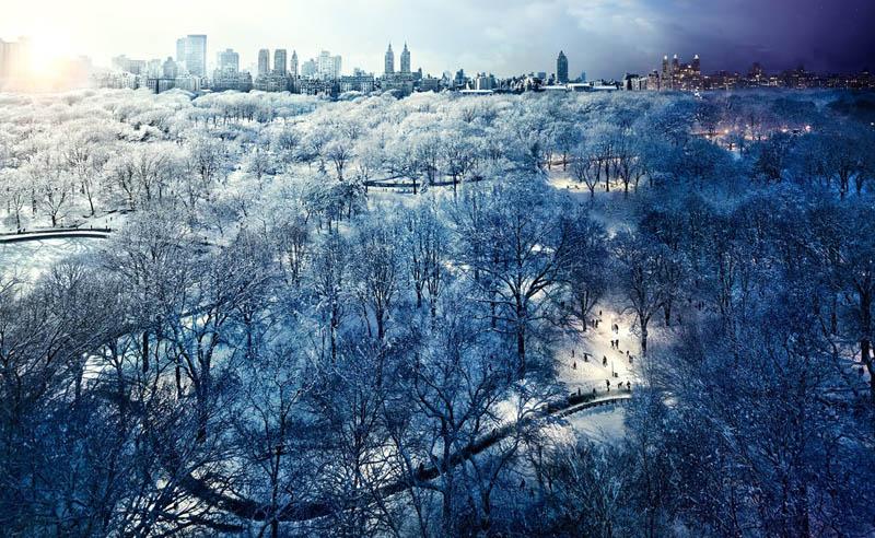 இரவும் பகலும் ஒரே நேரத்தில் எடுக்கப்பட்ட அழகிய காட்சிகள்  Central-park-day-to-night-in-same-photograph-stephen-wilkes