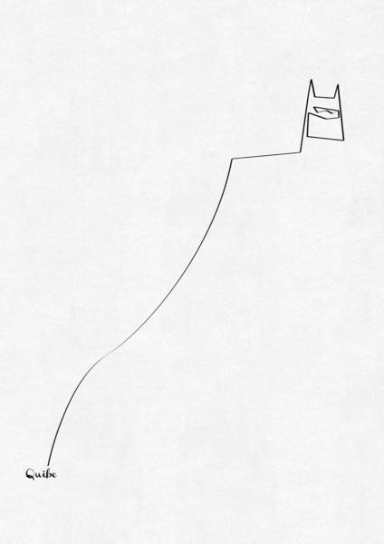 ஒரு கோடு ஒரு படம் Batman-one-line-portrait-by-quibe