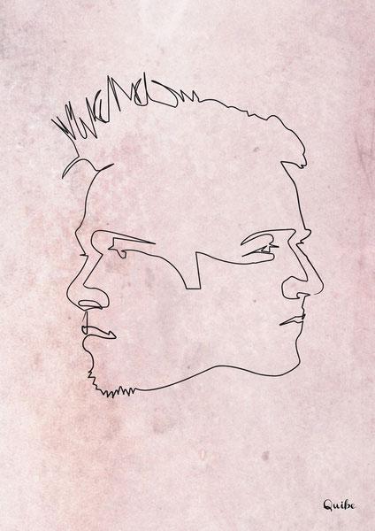 ஒரு கோடு ஒரு படம் Fight-club-one-line-portrait-by-quibe