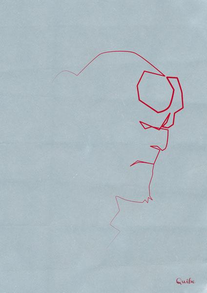 ஒரு கோடு ஒரு படம் Hell-boy-one-line-portrait-by-quibe