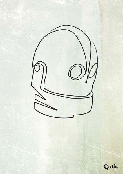 ஒரு கோடு ஒரு படம் Iron-giant-one-line-portrait-by-quibe