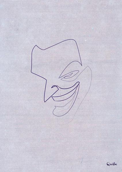 ஒரு கோடு ஒரு படம் Joker-one-line-portrait-by-quibe