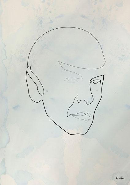 ஒரு கோடு ஒரு படம் Spock-one-line-portrait-by-quibe