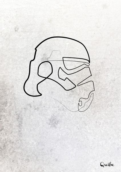 ஒரு கோடு ஒரு படம் Stormtrooper-one-line-portrait-by-quibe