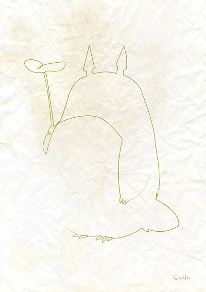 ஒரு கோடு ஒரு படம் Totoro-one-line-portrait-by-quibe